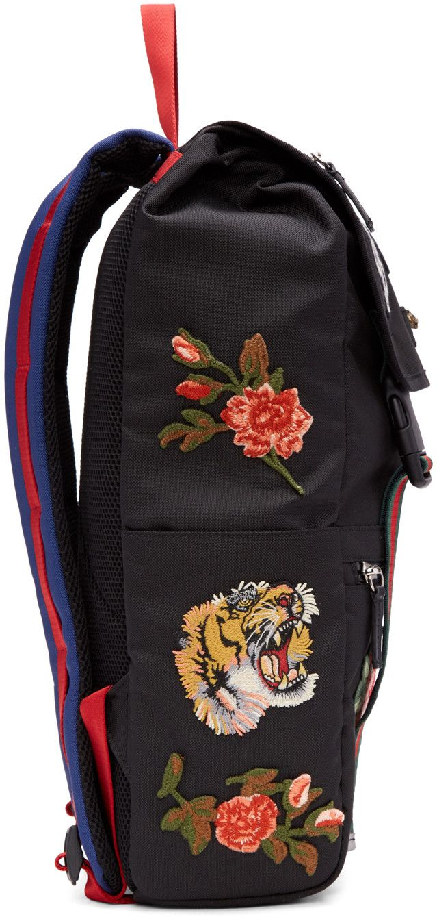 f4b11a0ed3fadd Gucci - Black 'L'Aveugle Par Amour' Techpack Backpack | ACCESSORIES ...