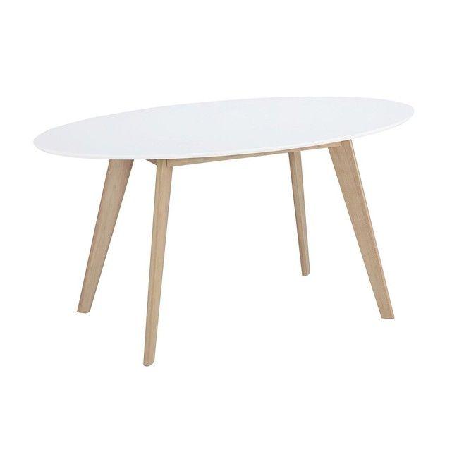 Table Ovale Et Bois Clair L150 Cm Leena Table A Manger Ovale Table Ovale Table A Manger Design