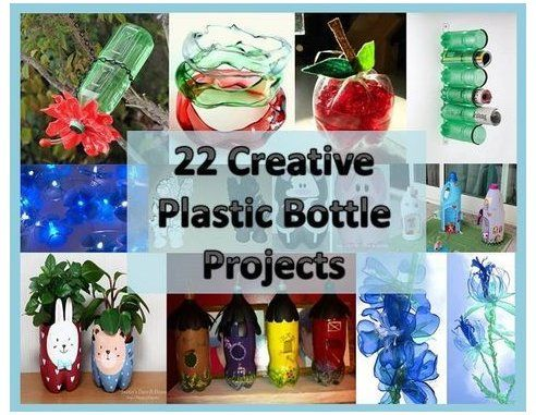 Craft, Home and Garden Ideas - 22 Creative Plastic Bottle Projects #plasticbottleart