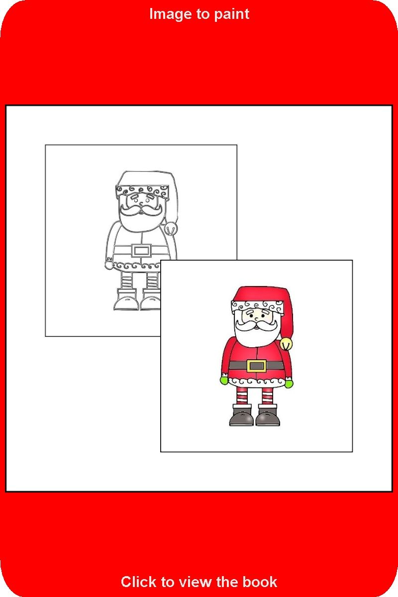 016 Sample Picture From The Book The Coloring Book With Santa Claus Coloring Books Toddler Coloring Book Coloring Book Pages