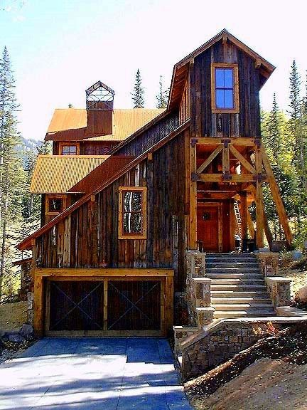 Flashback Friday Mountain Retreat in Telluride  house ideas in 2019  Cabin Mountain homes