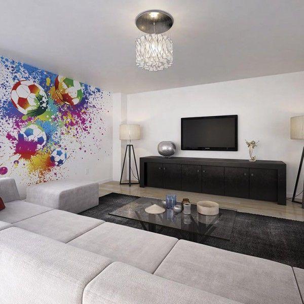 . Football Splash wallpaper wall mural   Kids Rooms   Football bedroom