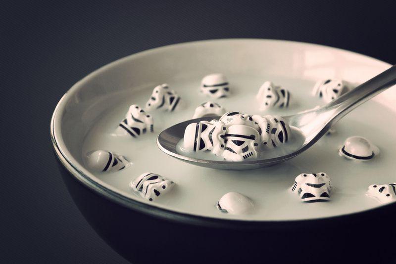 Breakfast of stormtrooper