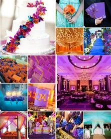 Wedding Colors Orange Teal And Purple Julie Forrest Norris