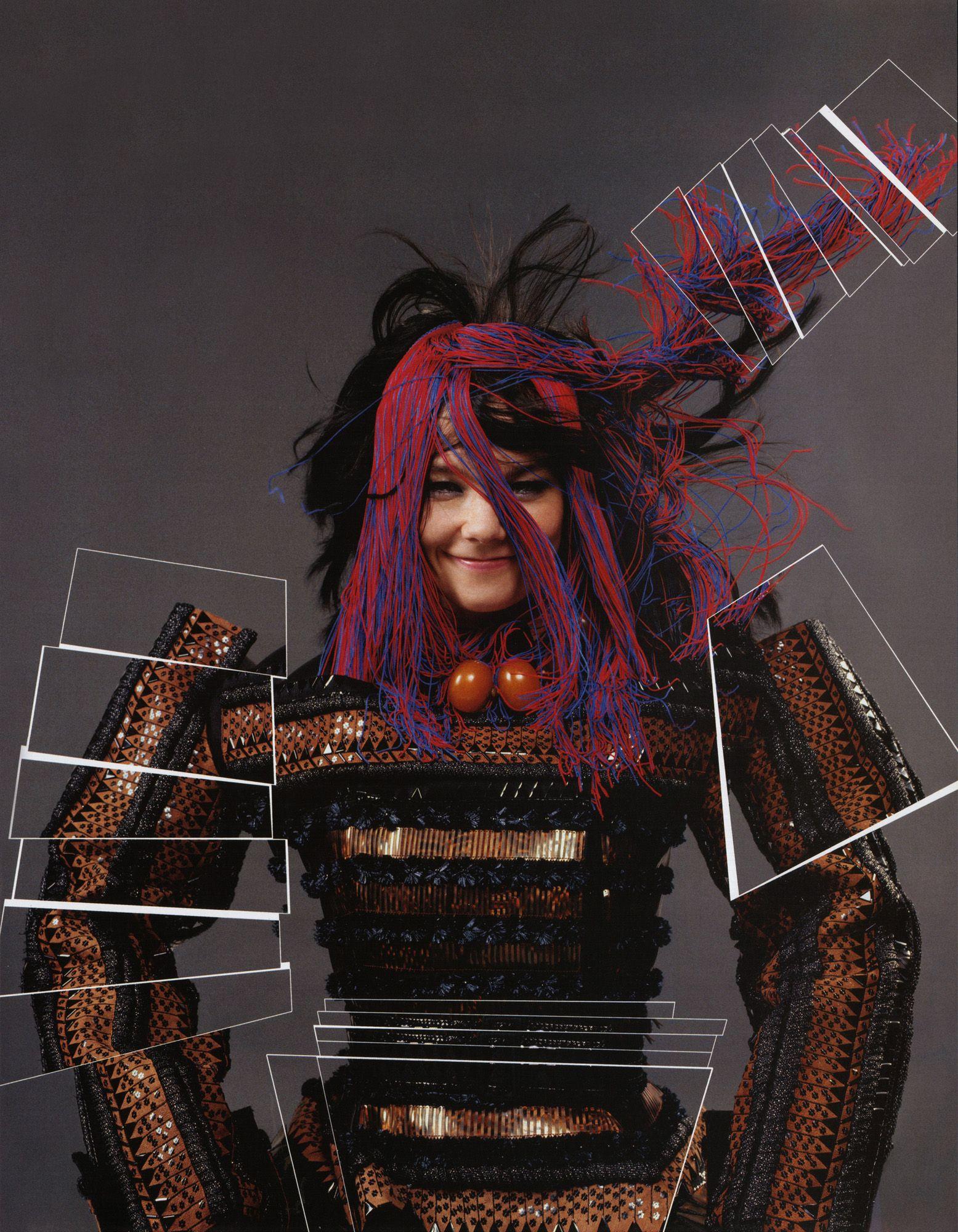 Björk by Jean-Paul Goude #2007 dressed by John Galliano