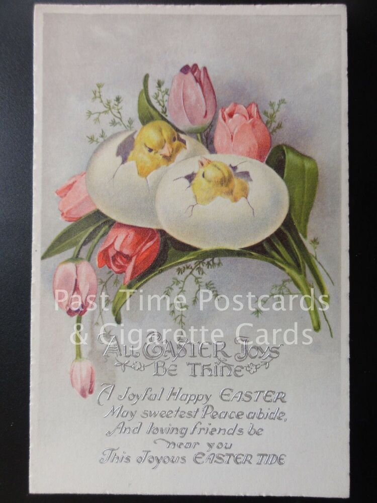 Details about Old PC Greetings 'ALL EASTER JOYS, BE THINE