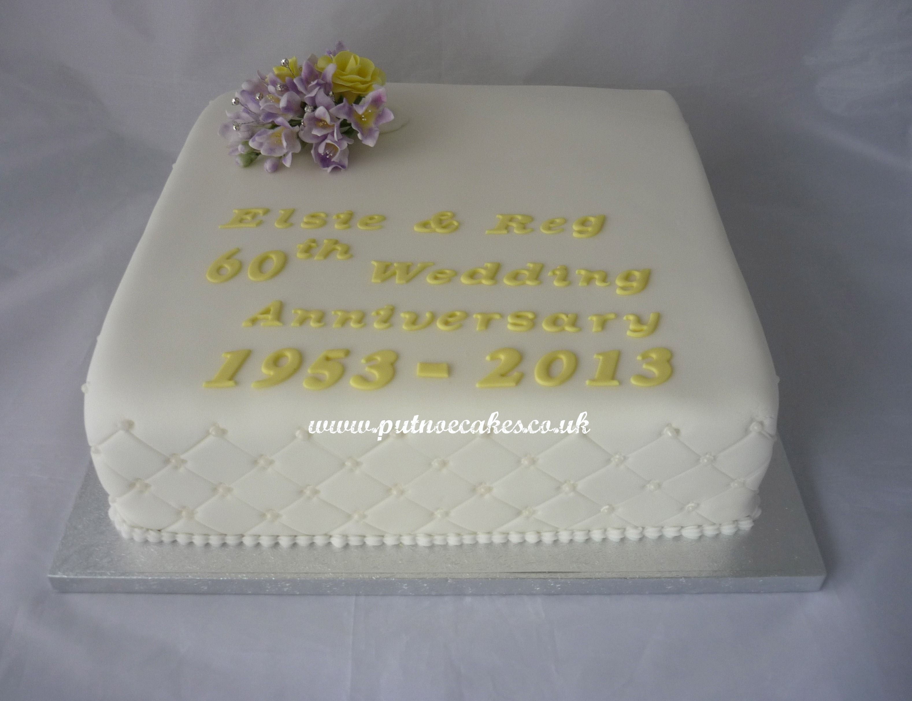 Cake Decorations For Diamond Wedding Anniversary : 60th wedding anniverary cake ... 60th-wedding ...