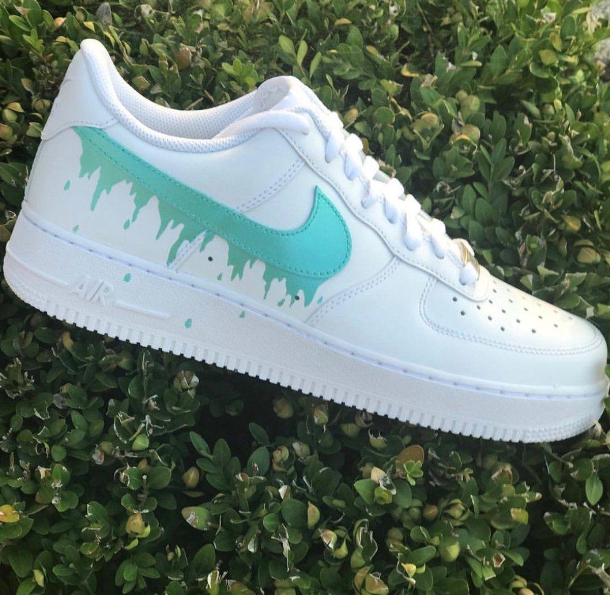 "Nike Air Force 1 ""Tiffany Drip"" in 2020 Nike shoes air"