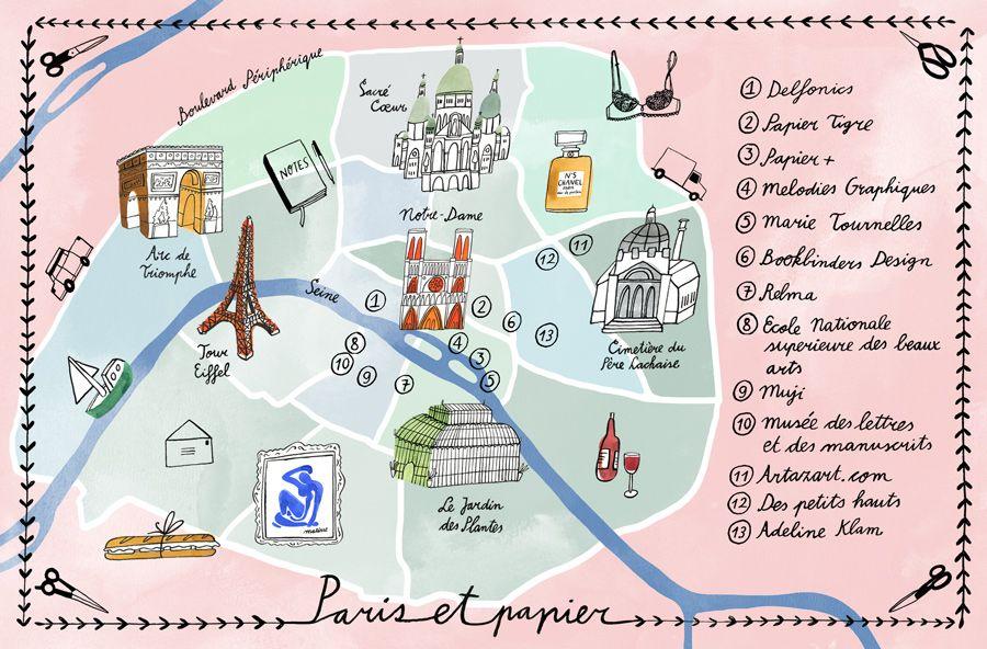 Bodil Jane Character Artist Map Paris Travel Paris France