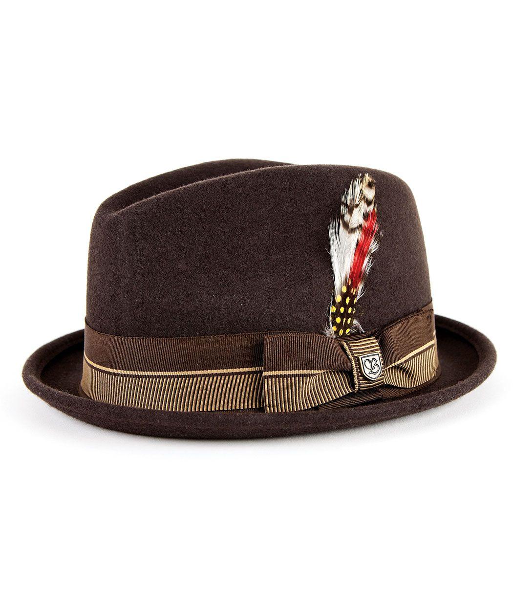 312ddb77f4e8 $80 The Gain Fedora Hat   Brixton Mens Hats   The Mens Shop   Mens Clothing  Online   Menswear Online & Accessories