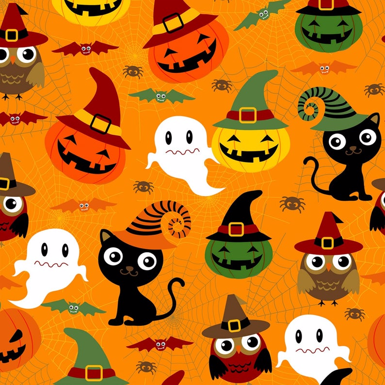 Adorable Spooks Halloween DX04569C1 from David Textiles