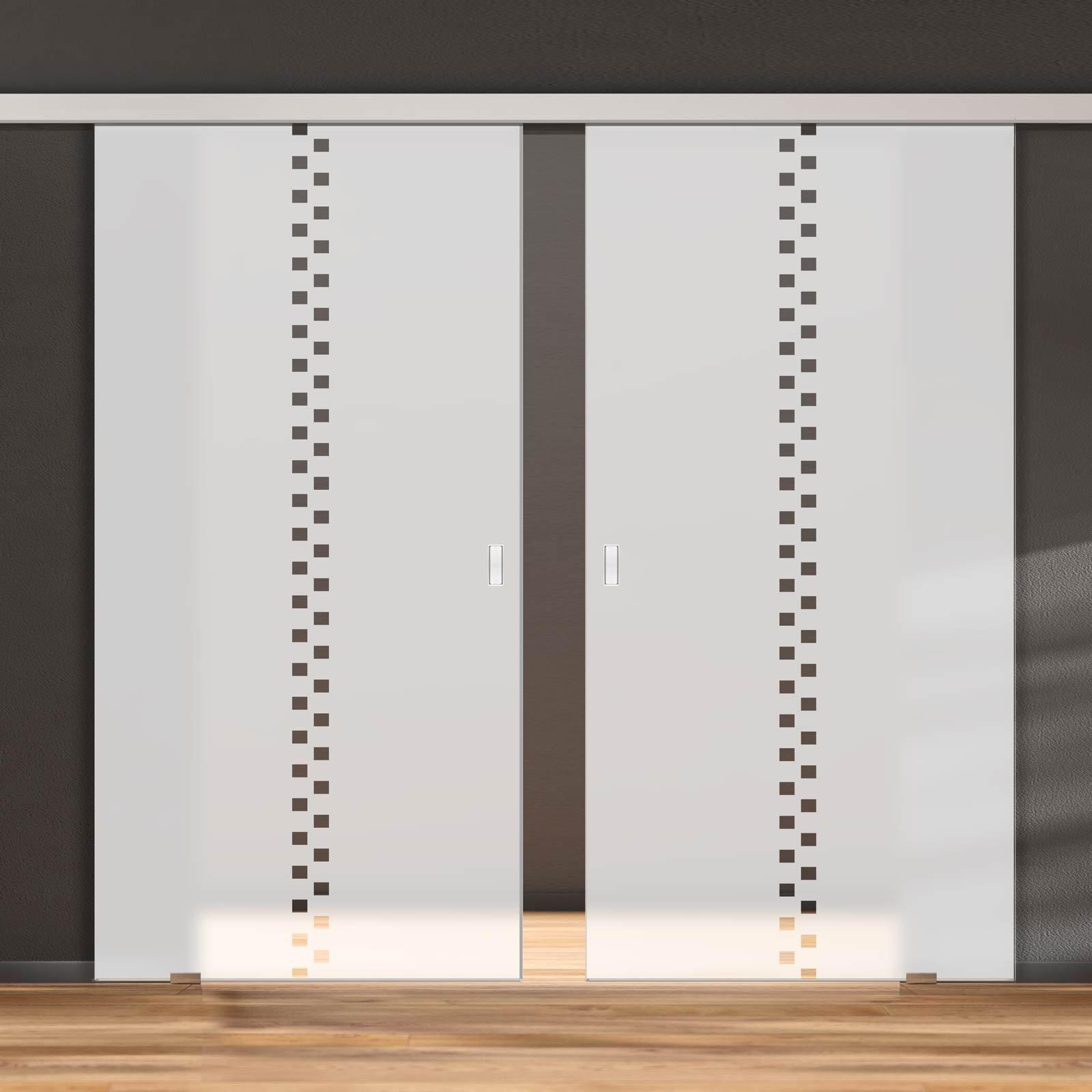Double Glass Sliding Door Bilston 8mm Obscure Glass Clear Printed Design Planeo 60 Pro Kit Sliding Glass Door Double Doors Door Cost