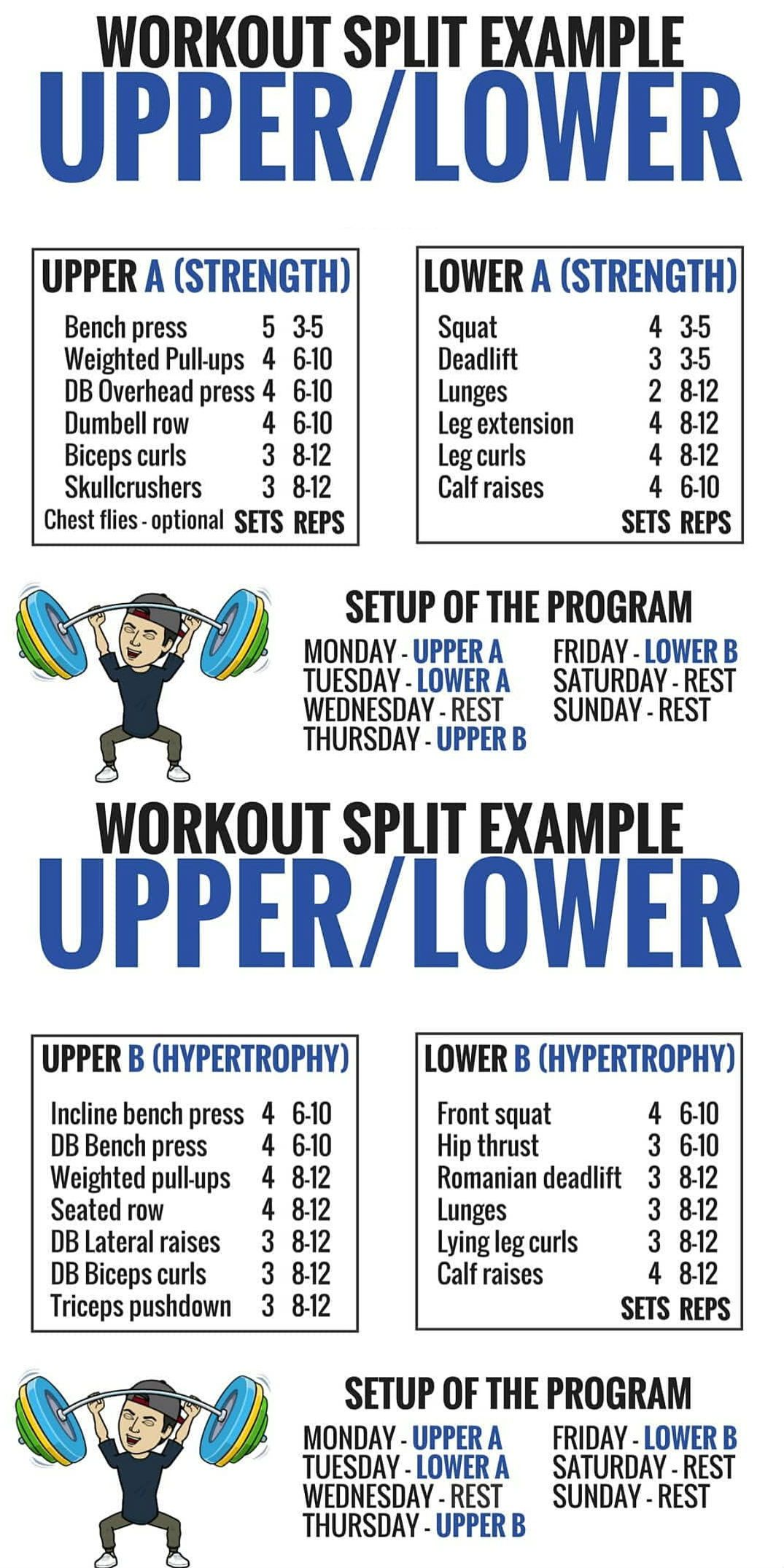 8 Powerful Muscle Building Gym Training Splits Workout Splits