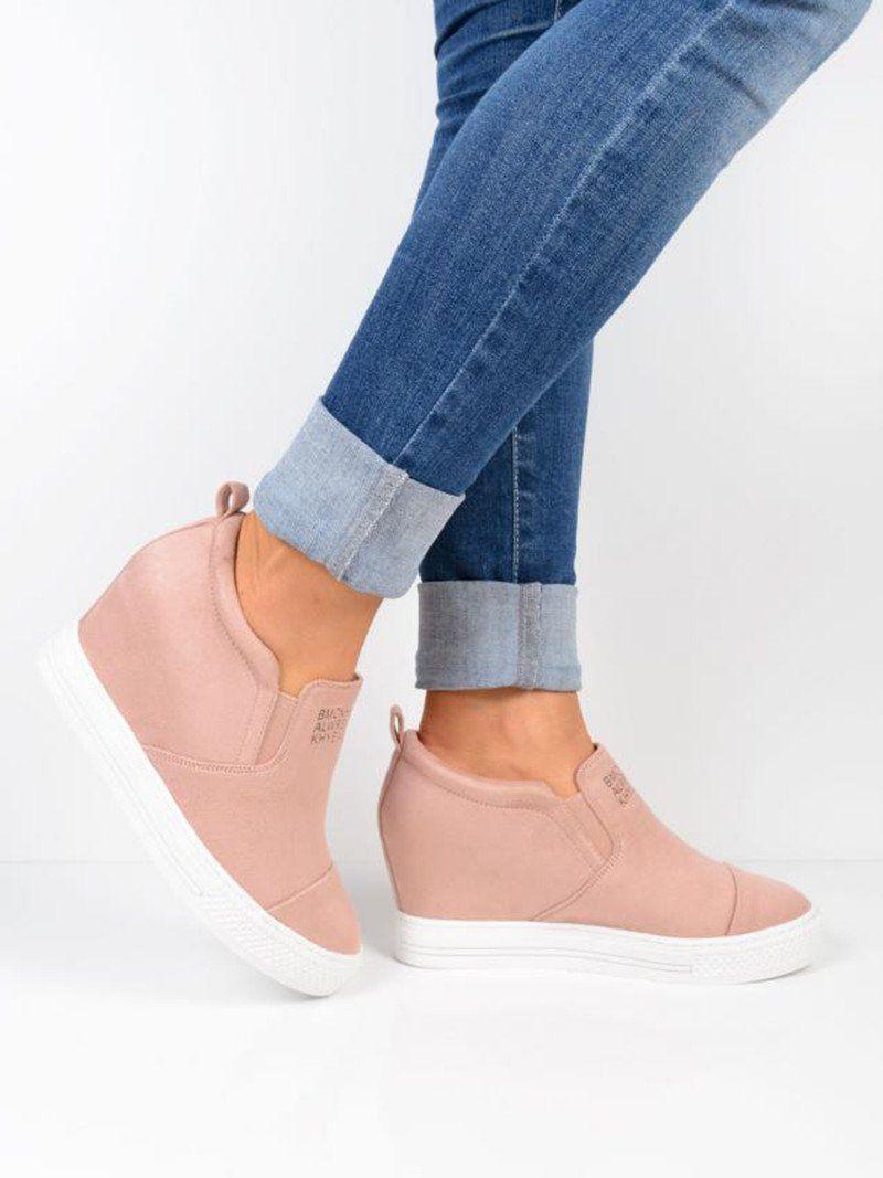Wedge sneakers, Wedge heel sneakers