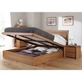 Arran Oak Ottoman Storage Bed Oak Beds Wooden Beds Beds