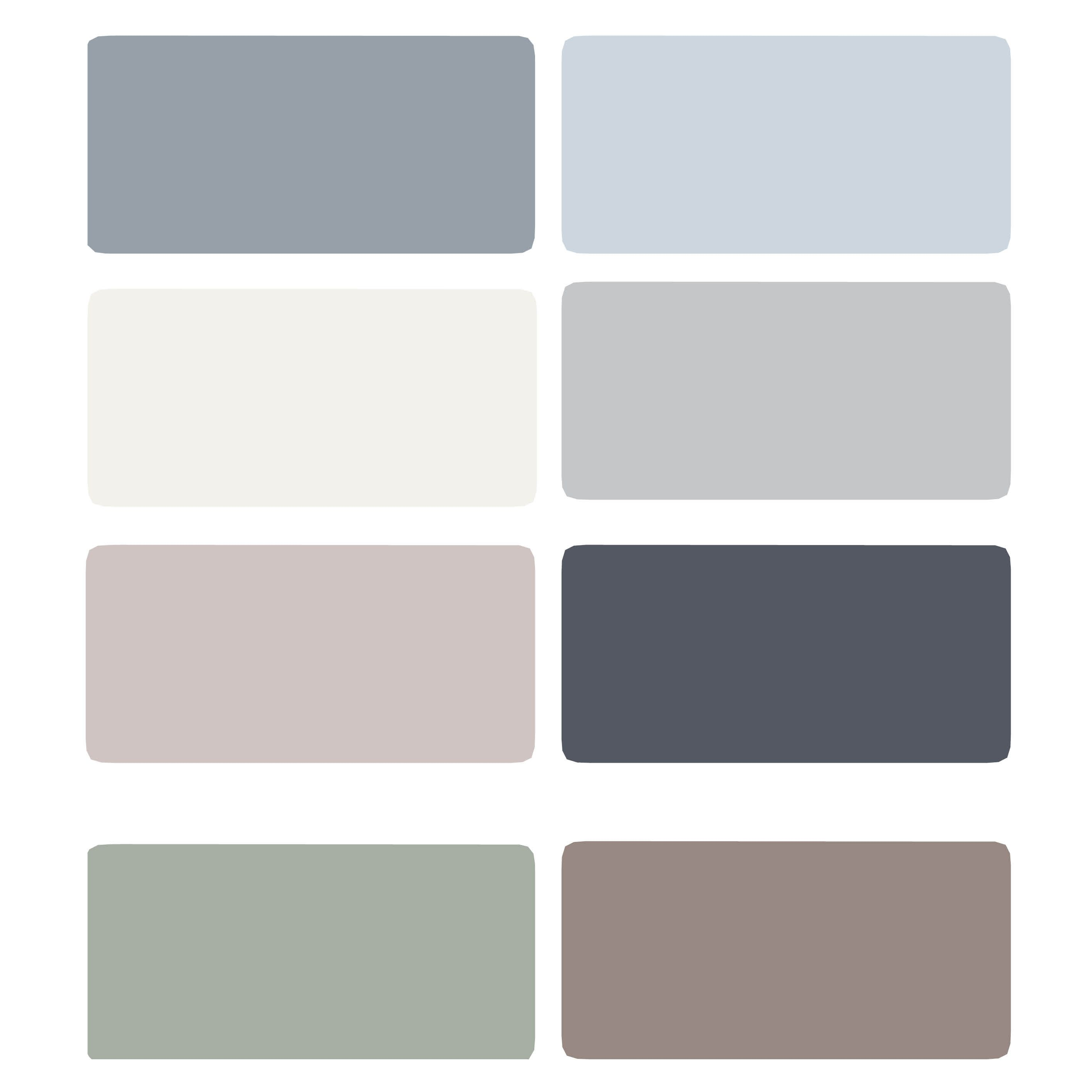 Blue Gray Paint oh, the painting we'll do… | svelte sage, french grey and queen anne