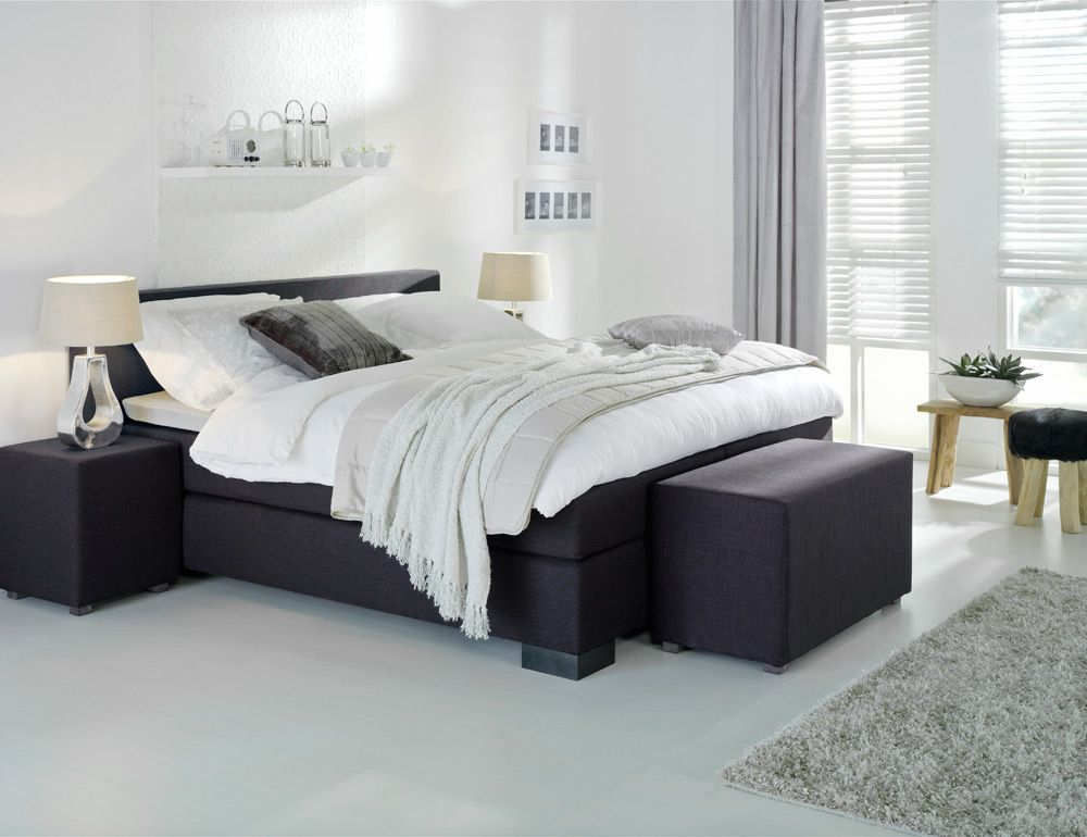 Boxspring stockholm past in een moderne en stoere for Slaapkamer bed