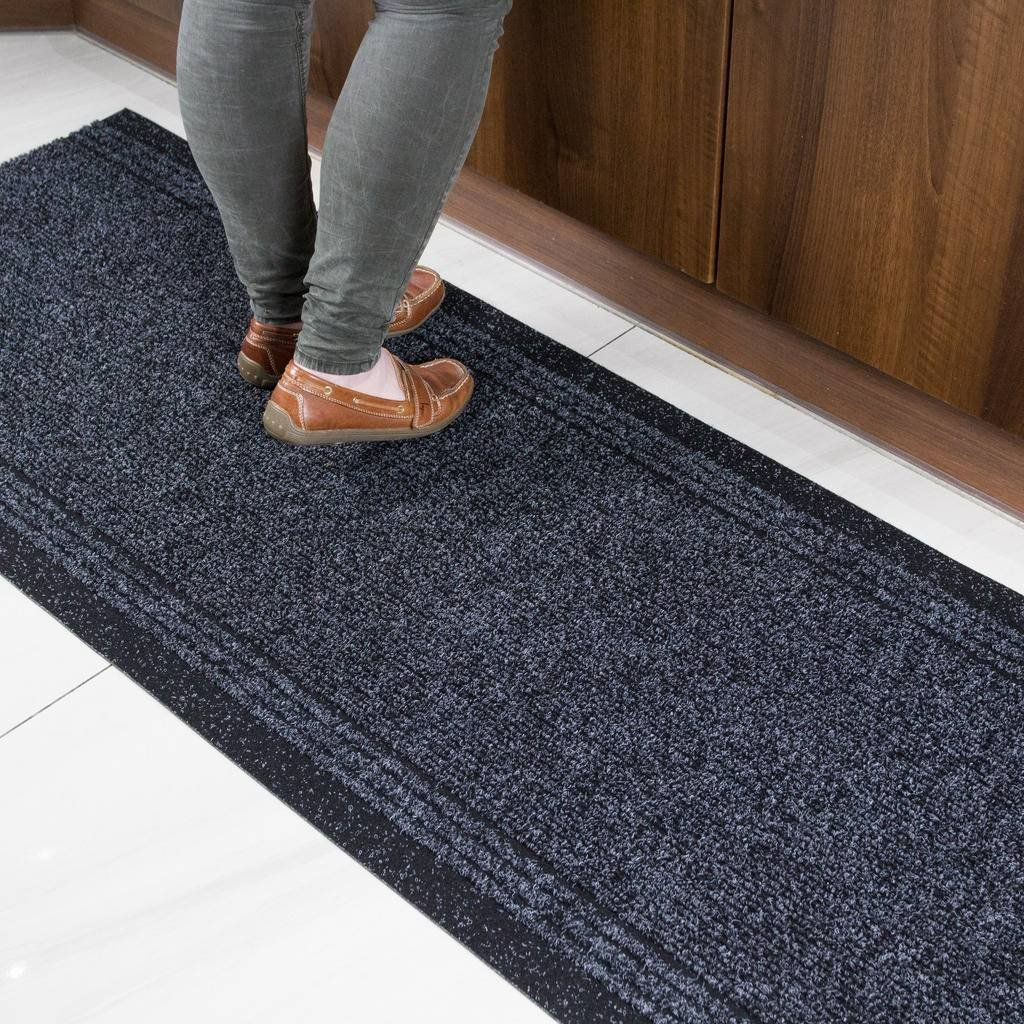 Best The Rug House Grey Black Rubber Backed Very Long Hallway 400 x 300