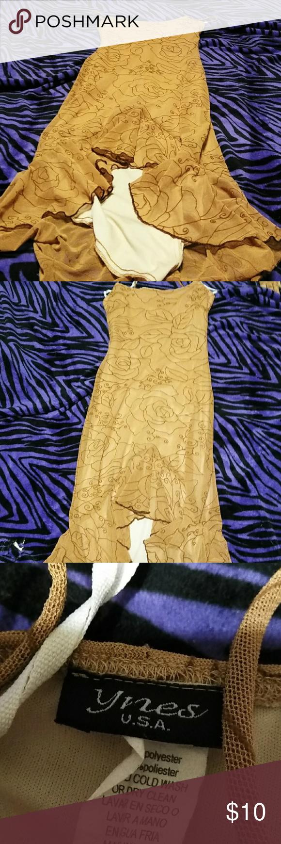 Tan rose dress | My Posh Picks | Pinterest | Rose dress, Rose and Gowns