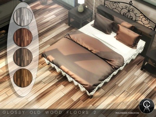 The Sims Resource Glossy Old Wood Floors 2 by Pralinesims  Sims 4 Downloads  Sims 4