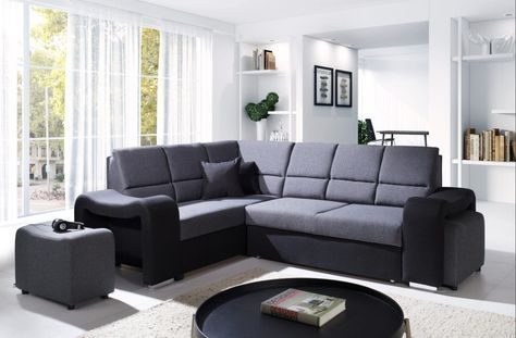 Sofá rinconera moderno y comodo con 2 pufs y cama u2013 Hawaii Un - deko ideen f amp uuml r wohnzimmer