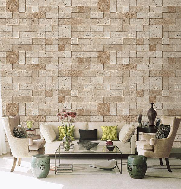 Wallpaper Kenya Stone Touch Catalogue Brick Wall Living Room Stone Wall Design Wallpaper House Design