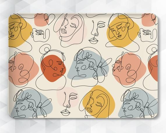 Art Macbook case Abstract Girls Macbook Pro 13 16 15 inch Air | Etsy