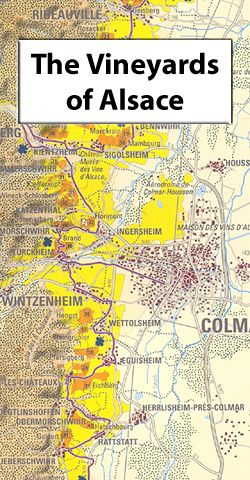 Alscace Wine Map Alsace Wine Wall Map Wine Pinterest Wine - Germany vineyards map