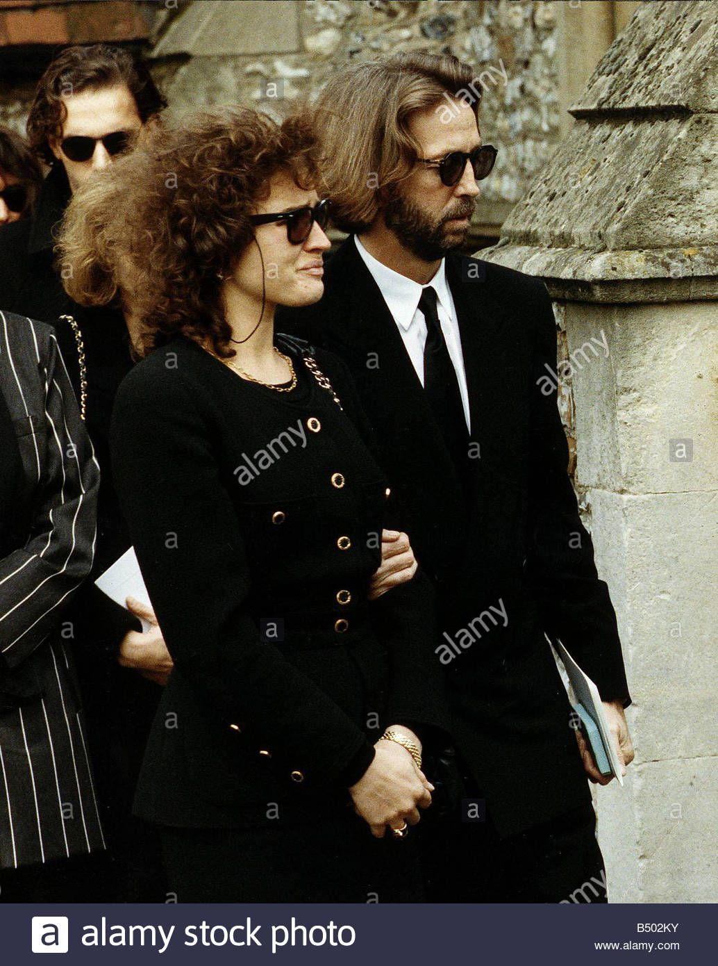 eric clapton and wife lori attend funeral of their son connor stock photo eric clapton. Black Bedroom Furniture Sets. Home Design Ideas