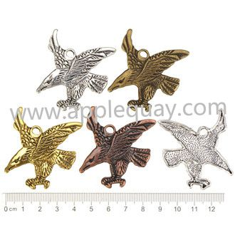 Zinc Alloy Eagle Pendant,Flat,Cadmium And Lead Free,Various Color For Choice,Length*Width*Thick:Approx 49*39*3mm,Hole:Approx 4mm,Sold By Bags,NO 000177  Unit Price:USD 0.12 MOQ:300 pcs Email: lichunjuan1@sina.com