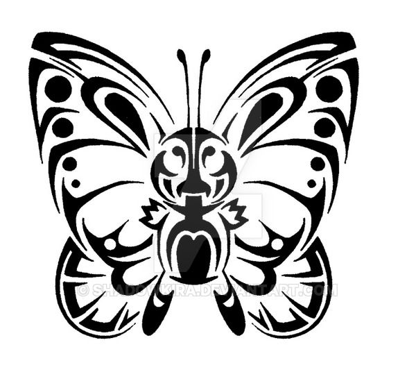 012 Tribal Butterfree By ShadowKira On DeviantArt