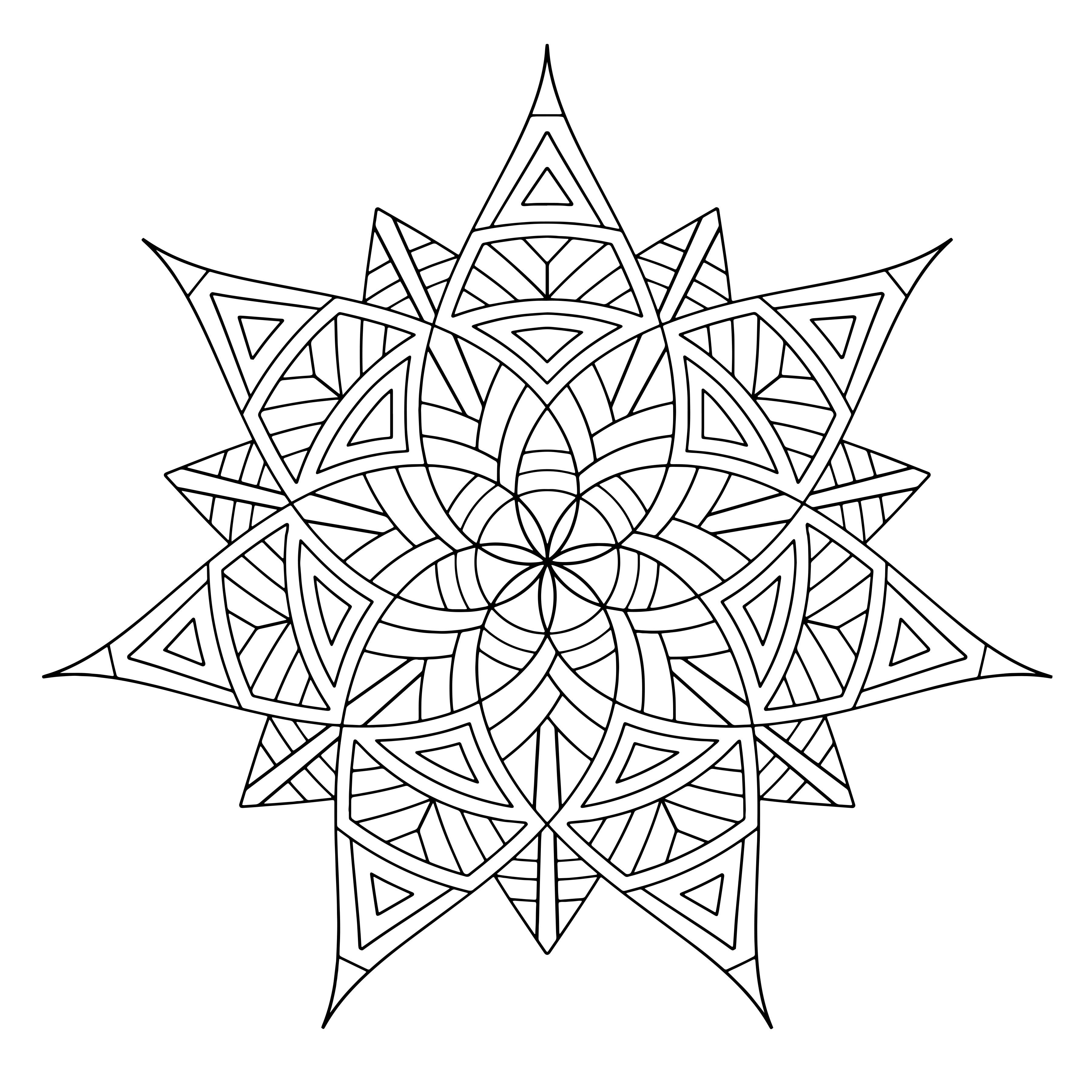 Geometric Designs Coloring Pages  Geometric coloring pages