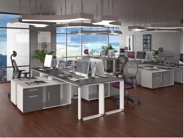 Distribuci n de integrantes isla office ideas for Distribucion de oficinas modernas