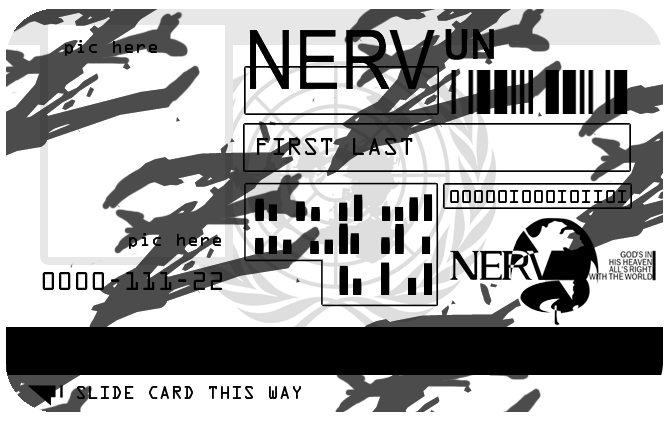 Nerv Badge Template Badge Template Id Card Template Templates