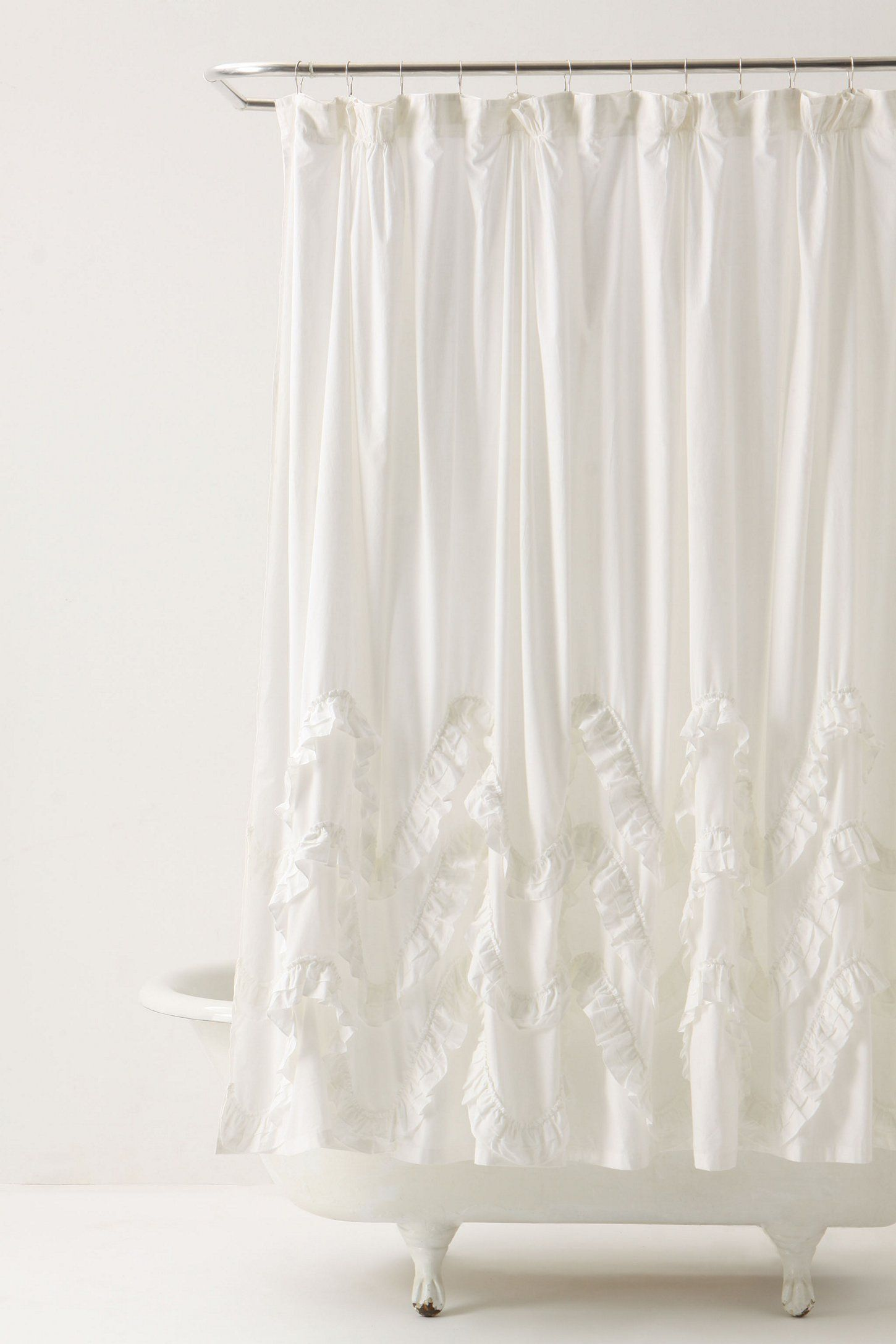 Waves Of Ruffles Shower Curtain - Anthropologie.com | Dream Home ...