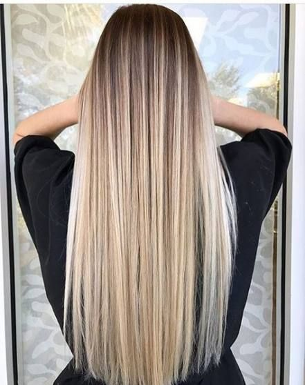 Best Hair Ombre Blonde Straight 22 Ideas Hair In 2020 With Images Balayage Straight Hair Long Hair Images
