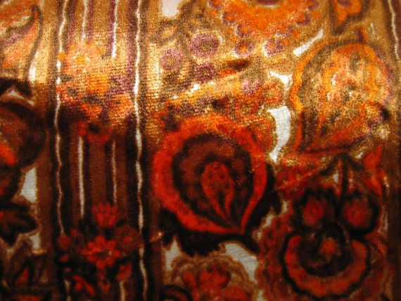Vintage Mid Century Woven Heavy Upholstery Curtain Fabric 1970s  3 variations