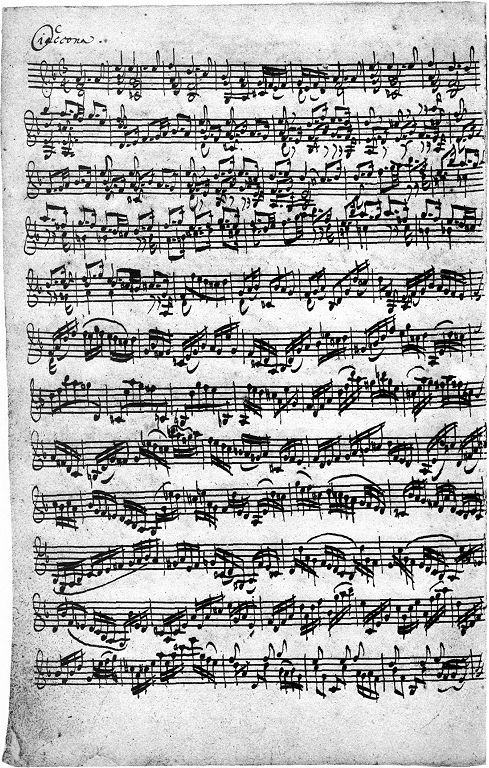 J S Bach Chaconne In D From Partita No 2 Bwv 1004 A Most