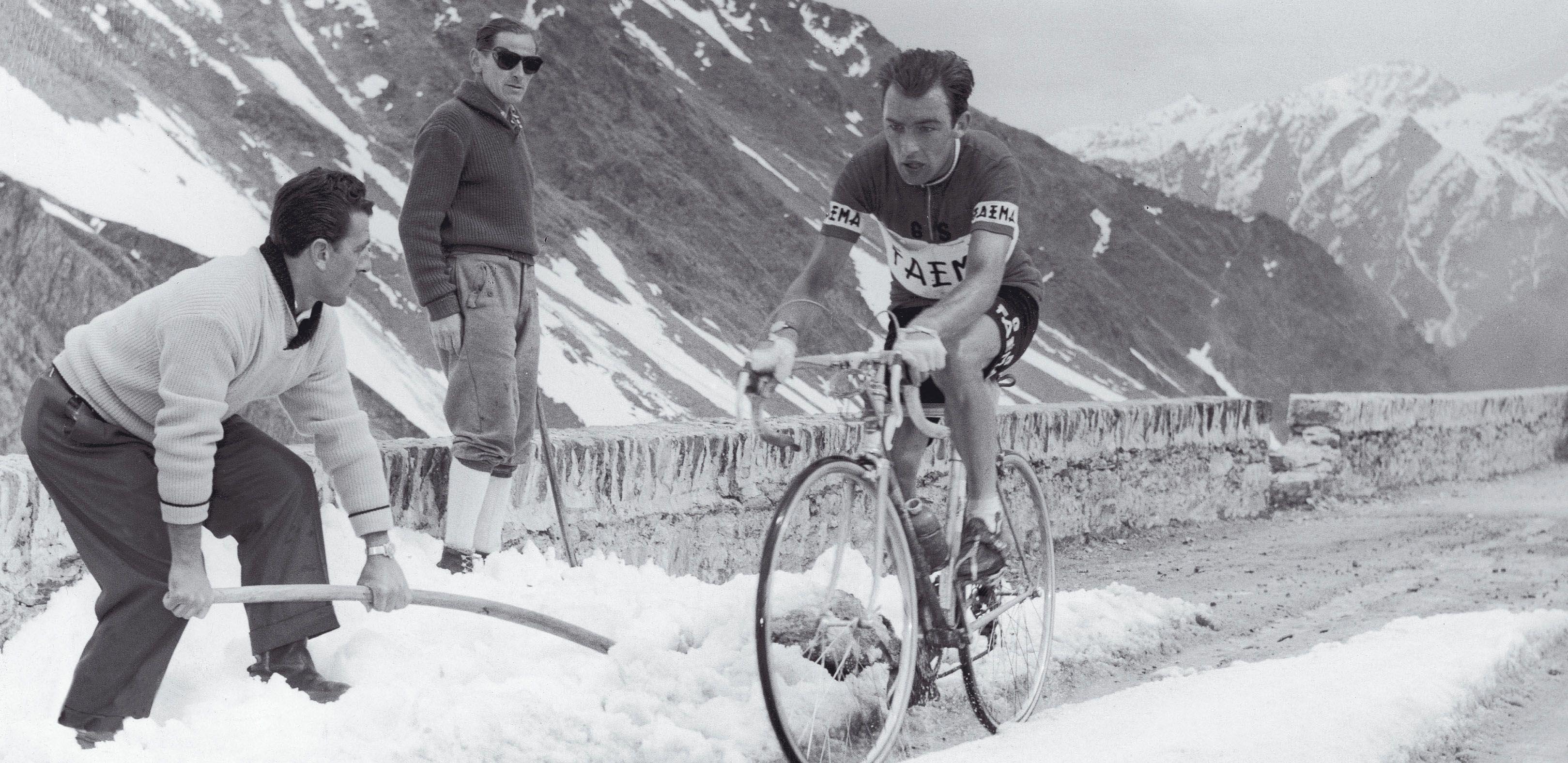 Giro d'Italia 1956. 21^Tappa, 8 giugno. Merano > Monte Bondone. Charly Gaul (1932-2005)