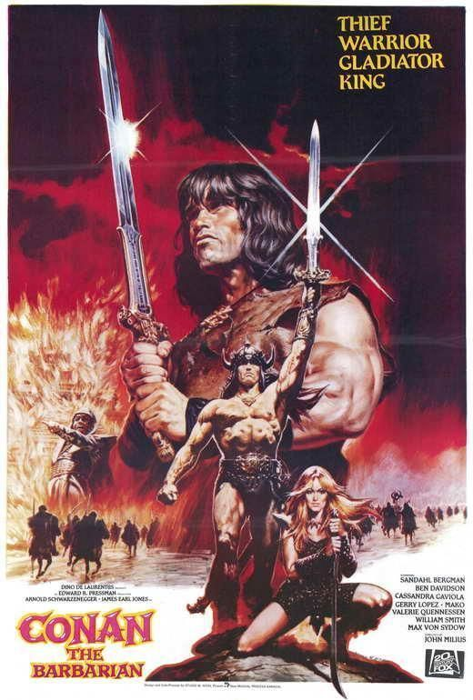 Conan The Barbarian Movie Poster 11 X 17 Arnold Schwarzenegger B Usa Barbarian Movie Conan The Barbarian Movie Movie Posters