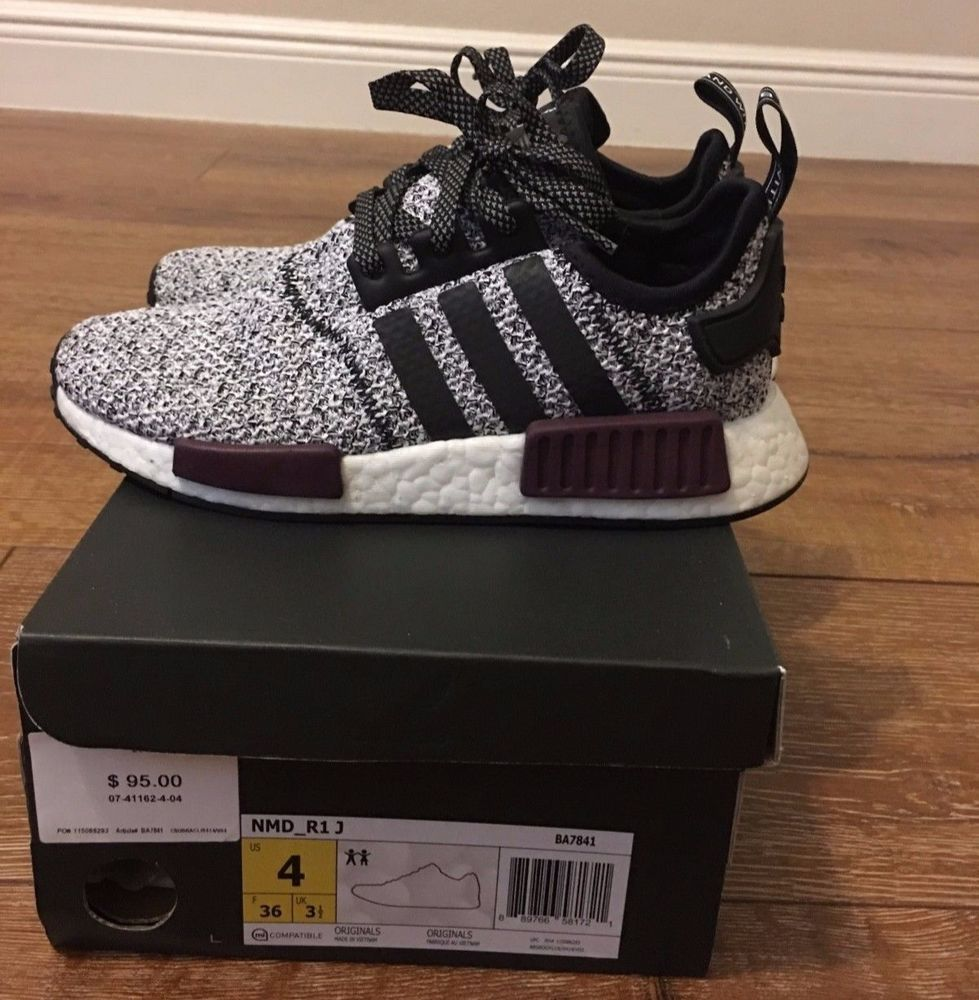 Adidas NMD R1 Champs Exclusive B39506 - Burgundy - Size 4