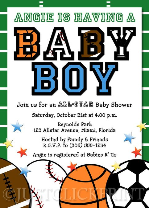 all-star baby shower theme | all star sports baby boy shower, Baby shower invitations