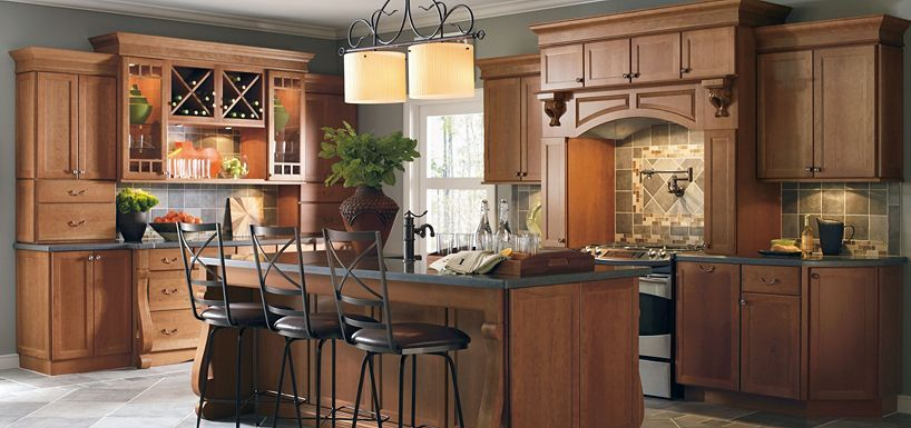 Cabbott Cherry Macaroon By Thomasville Cabinetry Liked This Color Cabinet Kitchens Pinterest