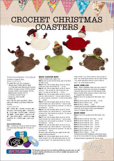 free pattern christmas coasters click picture or button to download pdf file crochet. Black Bedroom Furniture Sets. Home Design Ideas