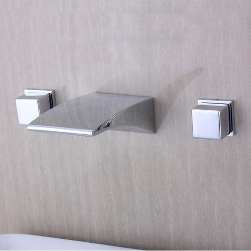 Beautiful Bathroom Taps modern design chrome finish widespread waterfall bathroom sink tap