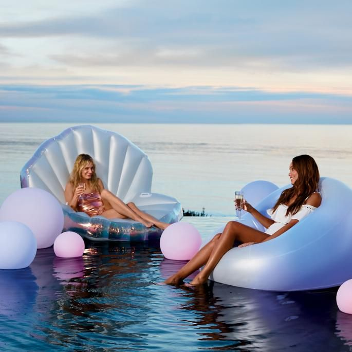 oyster shell float in 2019 pool party bean bag pool float pool rh pinterest com