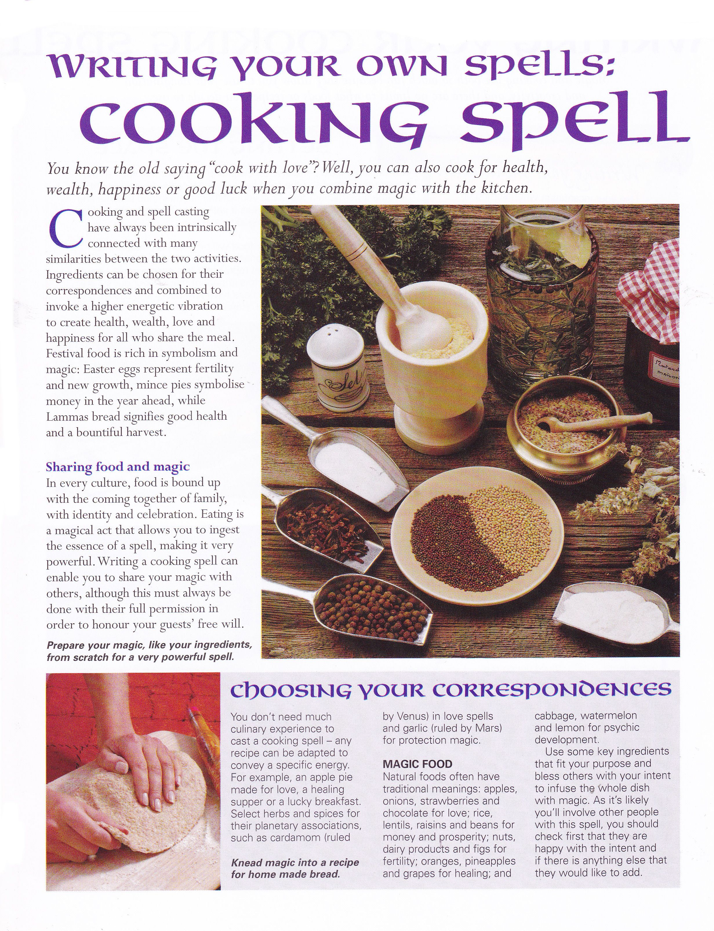Writing your own spells cooking spell | SPELLS | Pinterest | Wicca ...