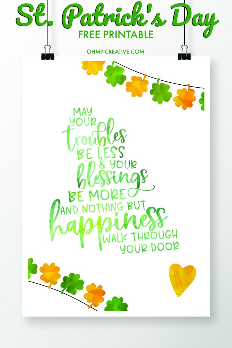 St Patrick S Day Sayings Free Printables St Patricks Day