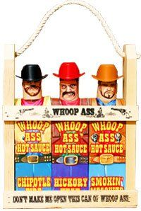 Whoop Ass Hot Sauce Gift Set In Wood...