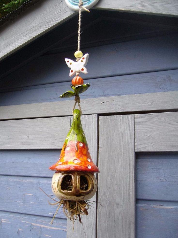 Rosenkugel Windspiel Kaferhauschen Ginkoblatt Stele Garten Keramik Unikat Windspiele Keramik Dekoration